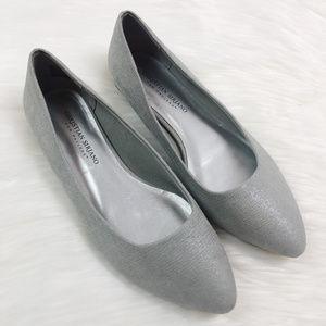 [CHRISTIAN SIRIANO] Silver Metallic Ballet Flats